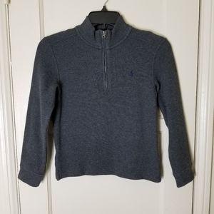 POLO RALPH LAUREN gray 1/2 zip sweater pullover